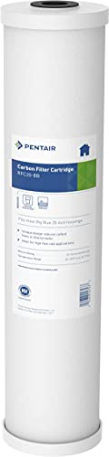 Pentair Pentek RFC-20BB Big Blue Carbon Water Filter, 20-Inch, Whole House Heavy Duty Radial Flow Carbon Replacement Cartridge with Granular Activated Carbon (GAC) Filter, 20' x 4.5', 25 Micron