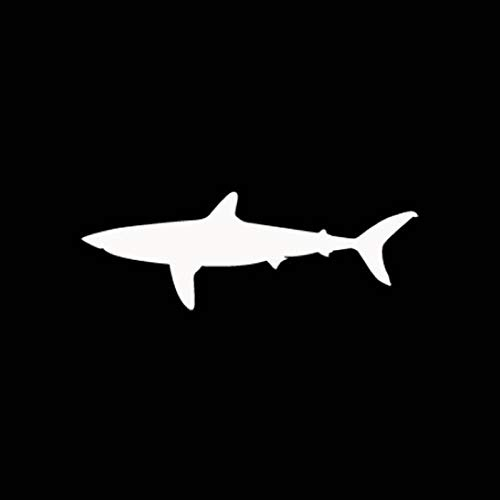 SHMAZ 14.5cm*5.1cm Cartoon Funny SHARK Car Sticker Car-styling Decal Black Silver Accessories