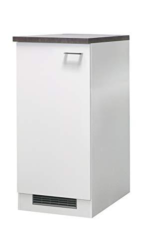 Flex-Well Midi-Kühlschrankumbauschrank LUCCA | Umbauschrank für Kühlschrank | 1-türig | Breite 60 cm | Weiß