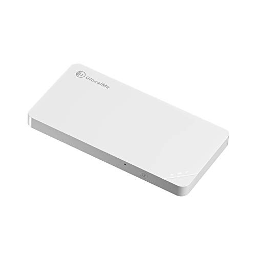 GlocalMe U3【公式販売】White(白) モバイル WiFi ルーター SIMフリー 1.0GB分のグローバルデータパック付き ポケットWiFi 140を越える国/地域に対応