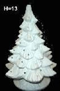 Ceramic bisque unpainted christmas tree with base 13