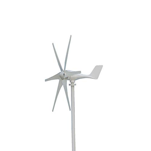 WYJW Inicio Aerogeneradores 600W, 12V 24 Voltios 6 Hoja de Fibra de Nailon Generador de Viento Horizontal Energía Molino de Viento Energía Turbinas Carga