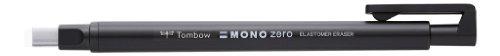 Tombow EH-KUS11 Präzisionsradierer MONO zero nachfüllbar eckige Spitze, 2.5 mm x 5 mm, schwarz