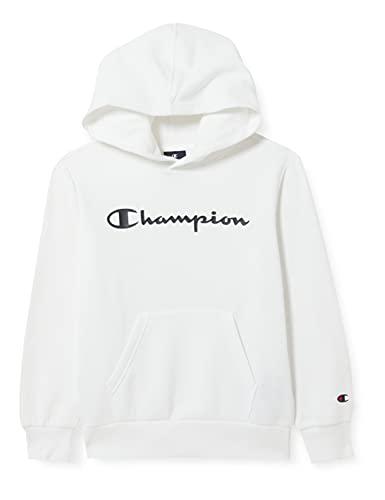 Champion Legacy Classic Logo Felpa con Cappuccio, Bianco, 13-14 Anni Bambino