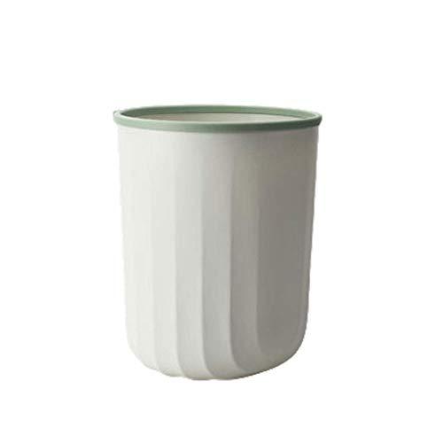 1yess Mülleimer Modern Kunststoff Mülleimer Mülleimer Müll, Müll Container Behälter für Badezimmer, Küche, Waschküche, Wohnamt, Schlafsäle Abfallbehälter (Farbe: grün, Größe: m)
