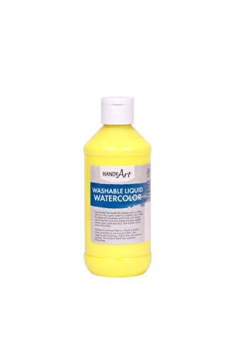 Handy Art Washable Liquid Watercolor 8 ounce, Fluorescent Yellow
