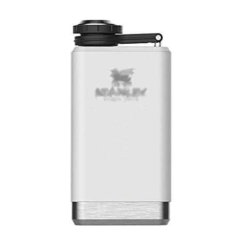UOOD Botella portátil para cócteles, whisky al aire libre, botella de agua potable, ideal como regalo para padre, color blanco