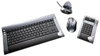 Logitech diNovo Media Desktop 2.0 - Teclado (Bluetooth, 2 AA NiMH rechargeable batteries (for the mouse), 6 AA alkaline batteries (for the keyboard), Óptico, USB port for Bluetooth functionality PS/2 port for keyboard use during boot CD-ROM drive, Windows 2000, XP (no service pack required))