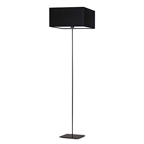 Lámpara de pie PRAGA pantalla de lámpara Negro Marco Negro