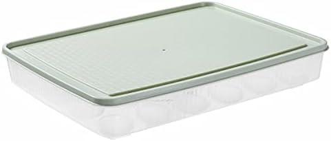 Transparent eggs box eggs storage box (Color : Green)