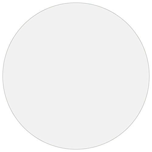 Bulufree Protector de Mesa Redonda de PVC Resistente de 2 mm, Funda Protectora de Muebles Impermeable Resistente a los arañazos, Ø 120 cm, Transparente