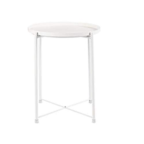 Jcnfa-bijzettafel Verwijderbare lade metalen eindtafel, ronde bank zijtafel, de beste console voor uw huis, 3 kleuren
