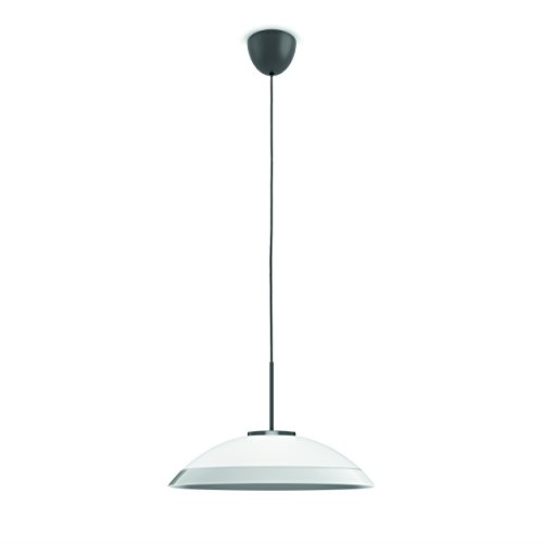 Philips 409056016 Finavon Luminaire d'Intérieur Suspension LED Verre Argent 8 W