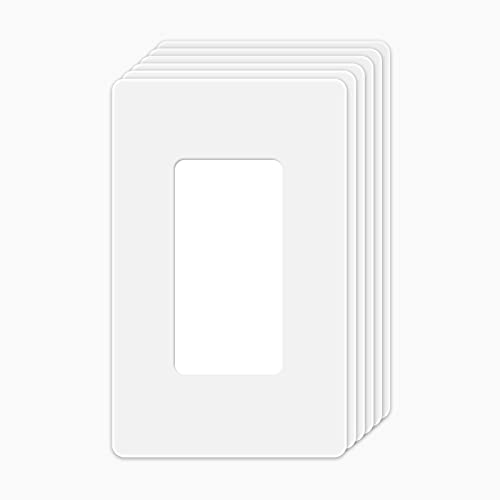Pack Wall Plates,Switch Covers/Plates,Outlet Covers,Screwless Wall Plate,White,1 Gang,UL Listed,4.50