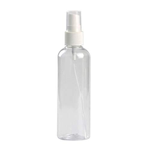 wanzhaofeng Pulverizar Botella Transparente de plástico rociador Transparente Botella cosmético portátil de Almacenamiento de contenedores de pulverización, 100ml