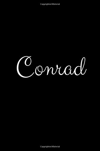 Conrad: notebook with the name on the cover, elegant, discreet, official notebook for notes