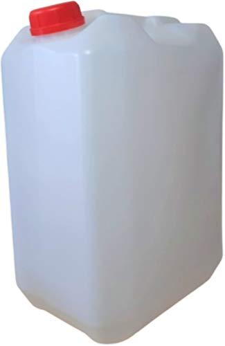 Garrfa bidón 25 litros Apilable Uso Alimentario Homologado ADR Transparente Boca Ancha Ideal Agua Gasolina Químicos Depósito Aire Acondicionado Camping Furgoneta Camper Resistente