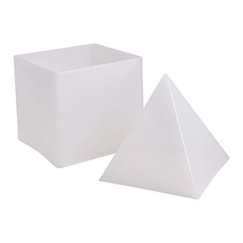 WANDIC Moldes de fundición de Silicona, diseño de pirámide de Silicona, Resina para Manualidades, decoración del hogar