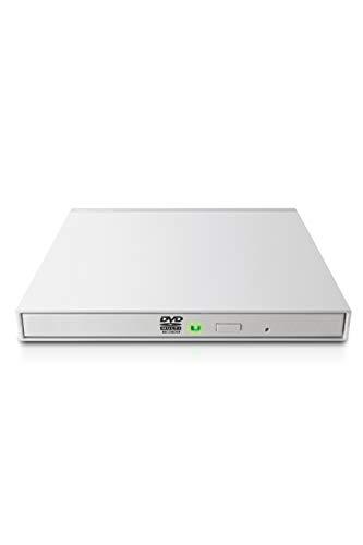 ロジテック 外付け DVDドライブ USB2.0 薄型 動画再生・動画編集・データバックアップソフト付属 USB type C ケーブル付 ホワイト LDR-PMK8U2CVWH