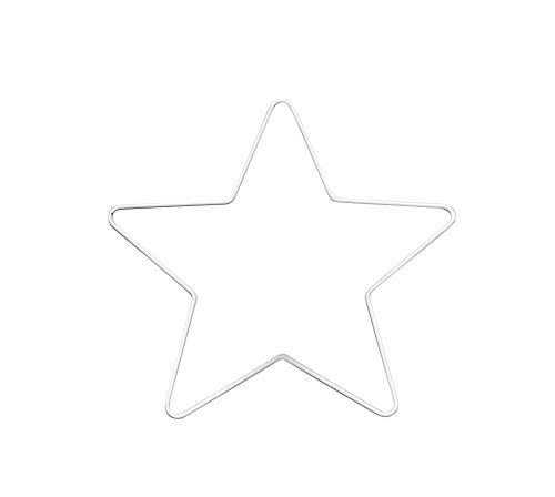 GLOREX 6 1294 411 - Metallrahmen Stern zum Basteln ca. 25 cm, beschichtet in weiß, ideal für Traumfänger, Makramee, Wanddeko und Floristik