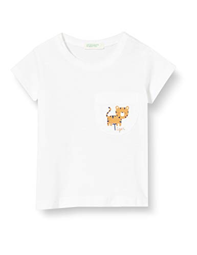 United Colors of Benetton Baby-Jungen T-Shirt Pullunder, Weiß (Bianco 101), 74