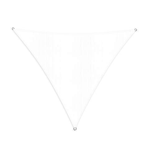Lumaland Voile d'ombrage Cordes de Fixation incluses, 100% HDPE avec Le Filtre UV de Protection Blanc 3x3x3