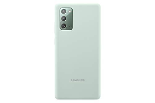 Samsung Silicone Smartphone Cover EF-PN980 für Galaxy Note20 Handy-Hülle, Silikon, Schutz Case, stoßfest, dünn und griffig, grün
