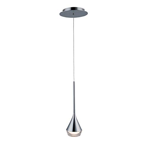 WAC Lighting PD-62913-CH DweLED Blast Off 13in LED Mini Pendant 3000K in Chrome Light Fixture