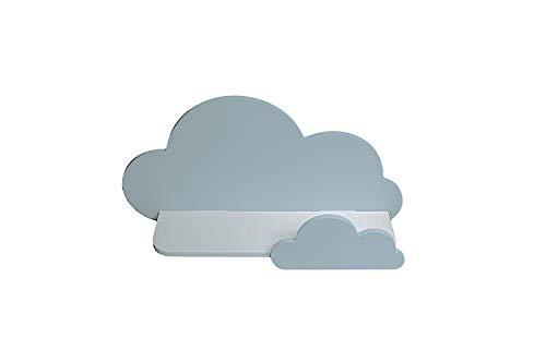 BugyBagy Trend Lab Cloud - Estante de pared (azul bebé), color azul