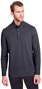 North End Men's Jaq Snap-Up Stretch Performance Pullover M Carbon