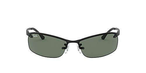 Ray-Ban mens Rb3183 Metal Sunglasses, Matte Black/Green, 63 mm US