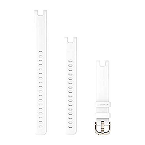 Garmin Ersatzarmband für Lily GPS Smartwatch, Silikon, Weiß