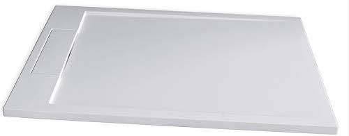 Bernstein Badshop Duschtasse Flach Mineralguss-Duschwanne PB3084 - Weiß matt - 120x80x3,5cm