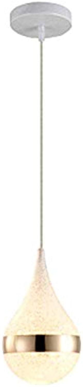 Phil lamps Einfache Postmoderne LED-kronleuchter Tisch Drop Crystal Sand Kreative Lampe Bar 1 3 Kopf Persnlichkeit Restaurant Dekoration Lampe,SingleheadWeißlight
