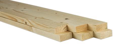 Chely Intermarket Palos de madera 2x4.5x90cm (Pack 6 Unds) ideal para usos de manualidades, plantas, bricolajes, artesanias y carpinterías.(2x4,5 * 6-2,25)