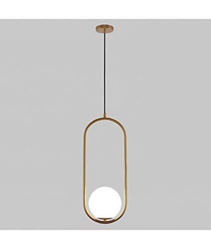 lampadario soggiorno dorato Lampadario Soffitto Sfera a Sospensione Moderno Stile Creativo Ovale Minimal Dorato in ferro battuto e laccato oro