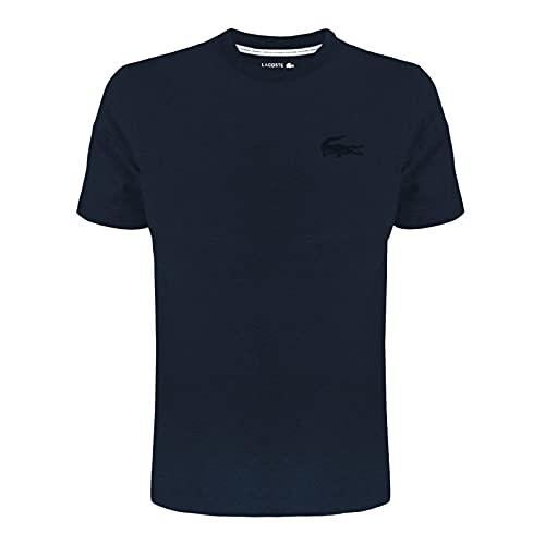 Lacoste Herren TH9910 Pyjamaoberteil, Männer T-Shirt,Schlafanzug-Oberteil,Blau,L