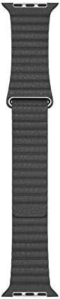 Apple Watch Leather Loop 44mm Black Medium product image