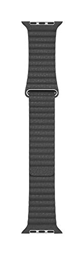 Apple Watch (44mm) Lederarmband mit Schlaufe, Schwarz - Large