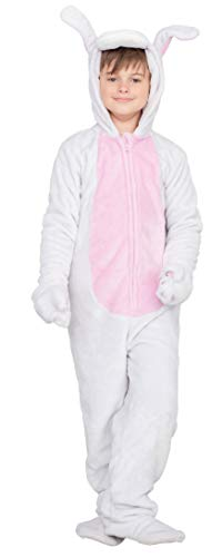 Bunny Flappy Suit Halloween Costume Jumpsuit (Child 4/5T) White