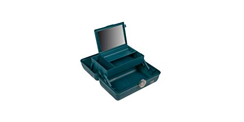 Caboodles Galaxy Glam - On-The-Go Girl Makeup Organizer, Teal Sparkle