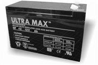 Ultramax NP9-12, 12v 9Ah 20HR (as 7Ah, 7.2Ah, 7.5Ah & 8Ah) Alarm, Stairlift, Toy Car, Bait Boat &...