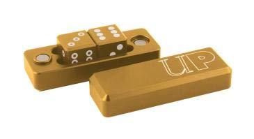Ultra Pro Aluminum Gravity Dice - Gold (Set of 2)