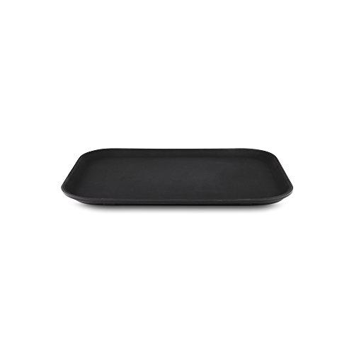 Tuffgrip Bandeja plástico y Goma Antideslizante, plástico, Negro, 16x12/40x30cm