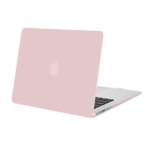 MOSISO Case Compatibile con MacBook Air 13 Pollici (Modelli: A1369 & A1466, Versione Precedente 2010-2017 Uscita), Custodia Rigid in Plastica, Quarzo Rosa