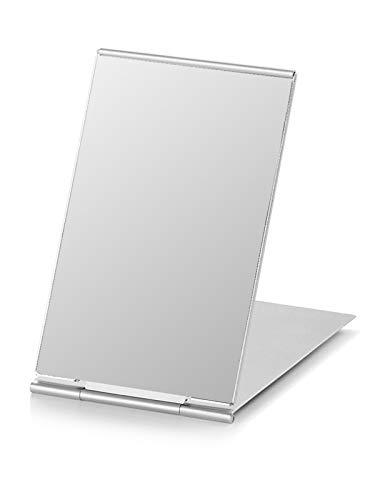 Portable Folding Mirror, Ultra-Slim Durable Makeup Mirror, Small Tabletop Mirror for Travel, Aluminum Shell, Mini Size, 4.7'