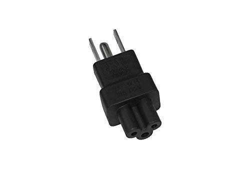 SF Cable IEC C5 to USA NEMA 5-15P Power Plug Adapter