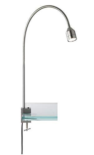 Fischer & Honsel Klemmleuchte 1x LED 4,5W nickel matt, H.b.63cm verst., 22761, metallisch