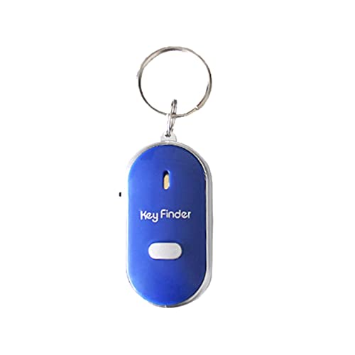 LED Light Torch Remote Sound Control Lost Key Finder Locator Keychain - Whistle Sound Item Locator Suitable for The Elderly Key Locator Device (Blue)