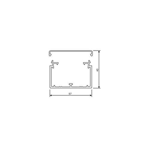 Hager LF4006007030 Kabelkanal Elektroinstallationskanal (L x B x H) 2000 x 57 x 40 mm 1 St. Stein-Grau